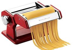 Ovente Stainless Steel Pasta Maker, Includes Hand Crank, Adj