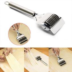 stainless steel slicing tool cutting garlic pizza
