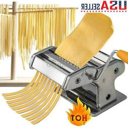 Steel Pasta Maker Noodle Making Machine Dough Cutter Roller
