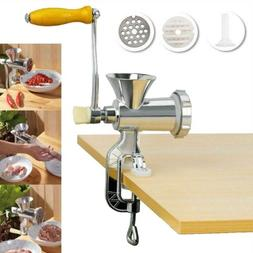 Table Hand Manual Meat Grinder Mincer Stuffer Sausage Pasta