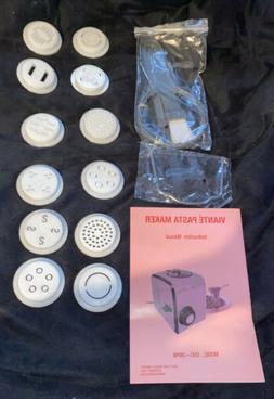 Viante Pasta Maker Instruction Manual & Accessories NEW Mode
