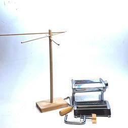 Weston Roma 6 inch Pasta Cutter with wood pasta dryer/hanger