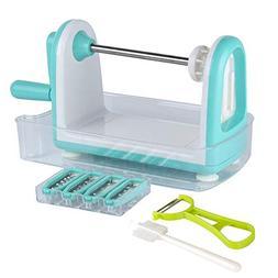 SODIAL Zucchini Noodle Maker Spaghetti Spiralizer - 5 Blades